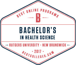 Best Colleges Seal for Best Online Bachelor's of Health Sciences - Rutgers University - New Brunswick