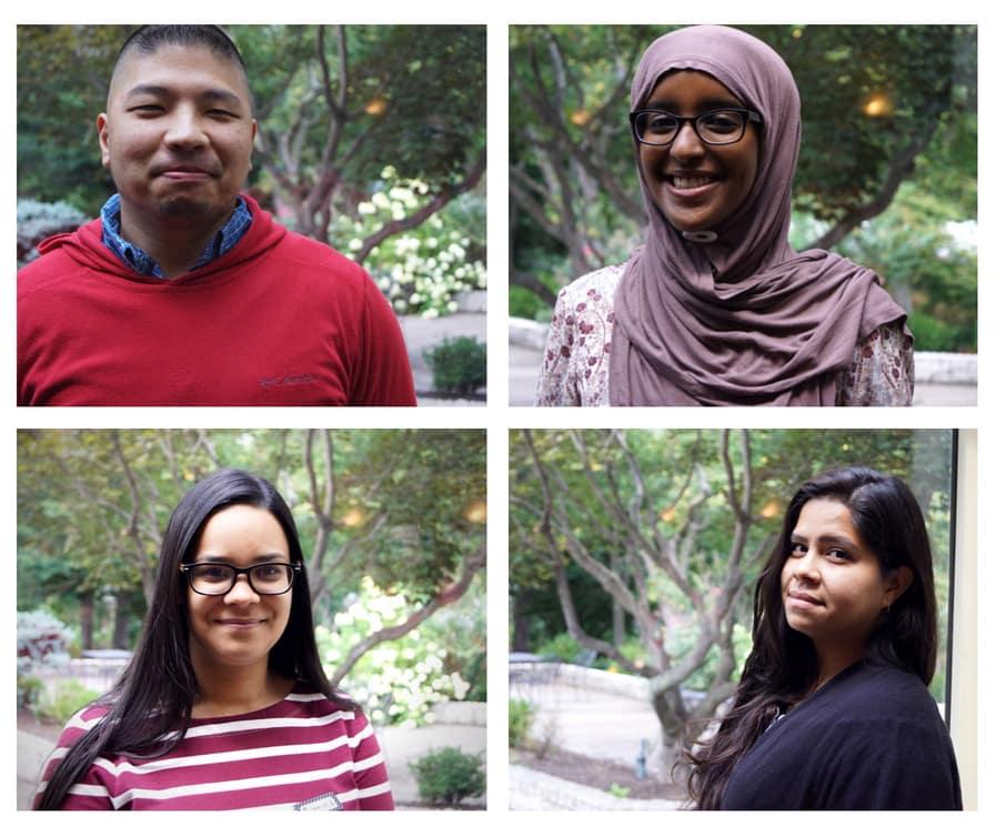 Students at EOF retreat portrait