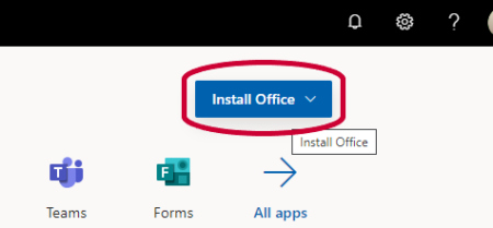 Office 365 page, with