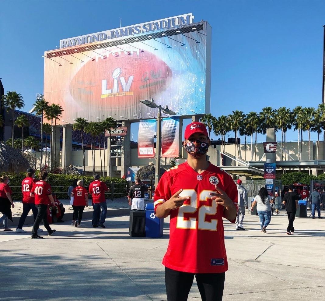 Donnie Montague at Super Bowl LV